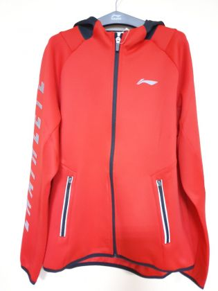 Training Boy FZ Knit Hoodie, Cinnabar Red