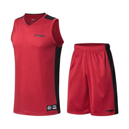 LN Basketball Male Competition Bottom, Pomegranate Red