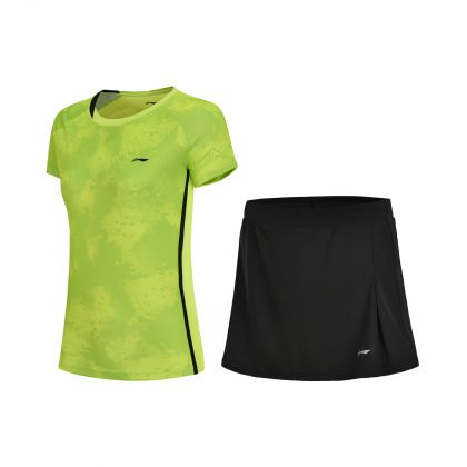 Badminton Club Female Competition Uniform Suit, Flashing Light Green