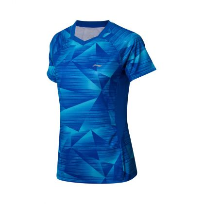Badminton Club Female Competition Top, Crystal Blue