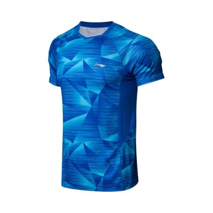 Badminton Club Male Competition Top, Crystal Blue