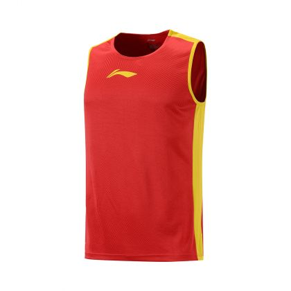 LN Basketball Male Competition Top, Bulls Red