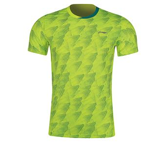 Badminton Club Male Competition Top, Flashing Bright Green