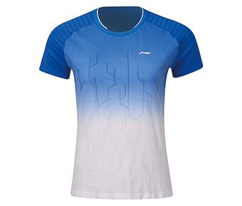 Female Competition Top, Crystal Blue/Standard White