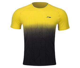 Male Competition Top, Kiwi Fruit Yellow/Standard Black