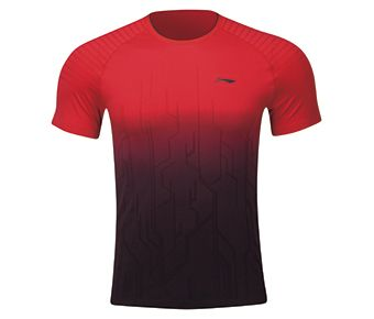 Male Competition Top, Red/Standard Black