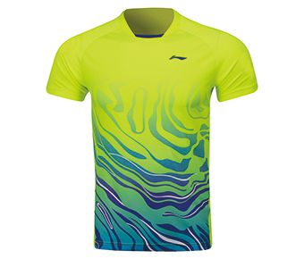 Male Competition Top, Flashing Bright Green