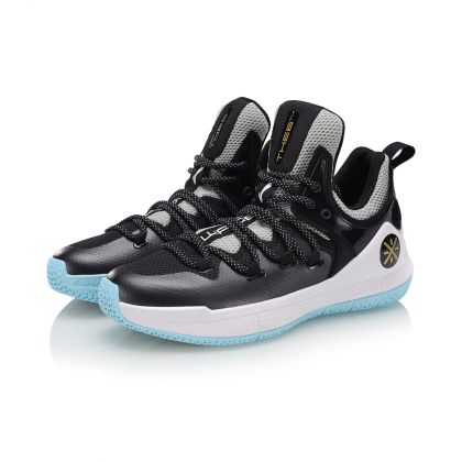 WADE Male Professional Basketball Shoes, Standard Black/Light Gray/Light Blue