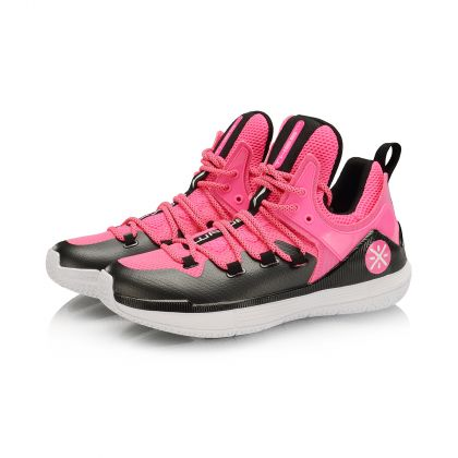 WADE Male Professional Basketball Shoes, Fluorescent Pink/Standard Black/Standard White