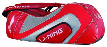 Racket Bag 9 In 1, Red/Silver