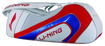 Racket Bag 9 In 1, White/Red/Blue