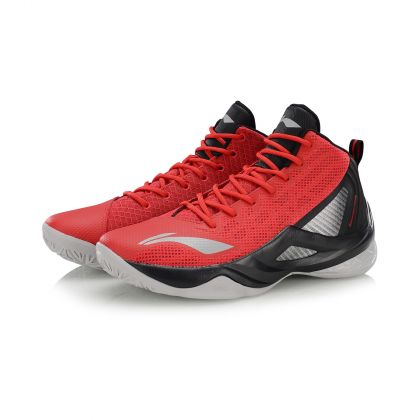 WADE Male On Court Basketball Shoes, Cinnabar Red/Standard Black