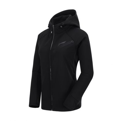 Jogger Female Windbreaker, Standard Black