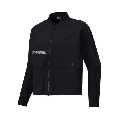 Basketball Culture Female Windbreaker, Standard Black