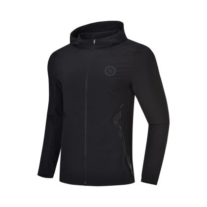 Wade Signature Male Windbreaker, Standard Black