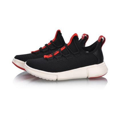 Female Basketball Culture Shoes, Standard Black/Cinnabar Red