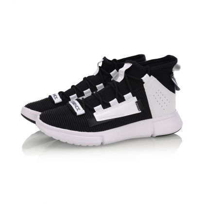 Male Basketball Culture Shoes, Standard White/Standard Black