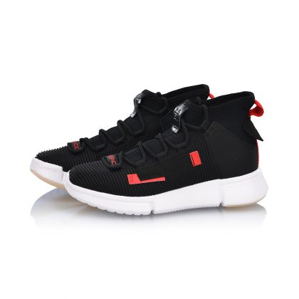 Female Basketball Culture Shoes, Standard Black/Standard White
