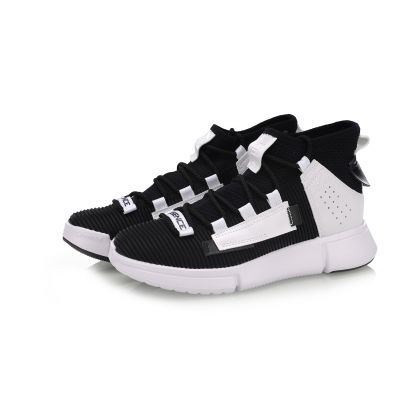 Female Basketball Culture Shoes, Standard White/Standard Black