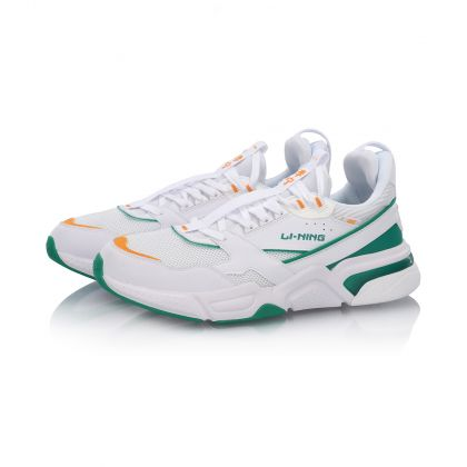 Basic Male Classic Shoes, Standard White/Peppers Green