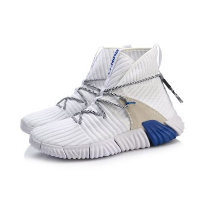Stylish Male Streetwear Shoes, Standard White/Turkish Sea