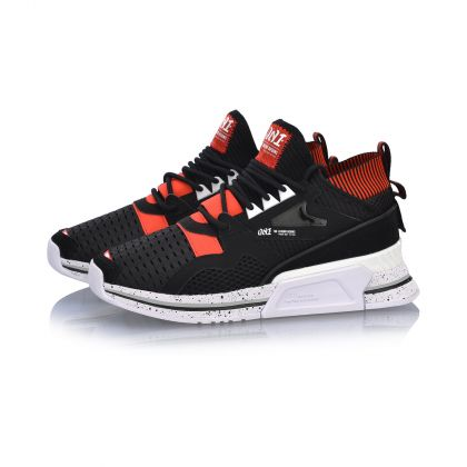 Female Stylish Shoes, Standard Black/Li-Ning Red/Standard White