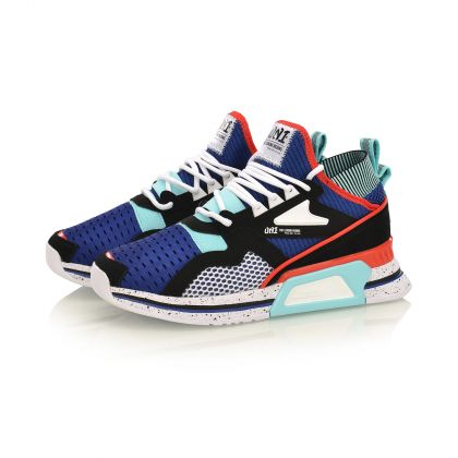 Female Stylish Shoes, Deep Blue/Standard Black/Li-Ning Red
