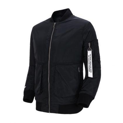 Basketball Culture Male Short Padded Jacket, Standard Black