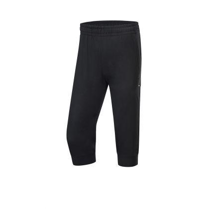Basketball Culture Female 3/4 Sweat Pants, Standard Black