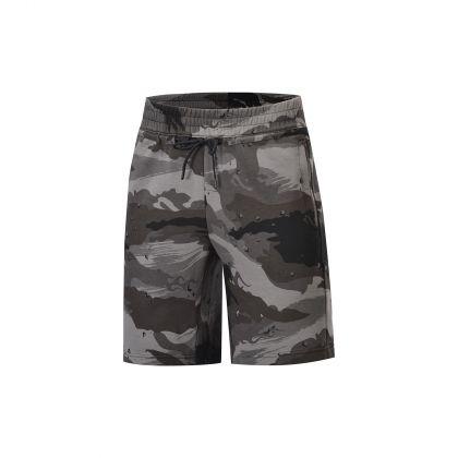 Basketball Culture Male Sweat Shorts, Black-Grey Camoufl Age