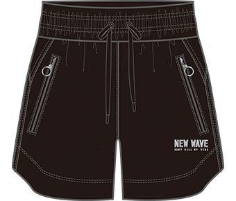 Style Female Sweat Shorts, Standard Black
