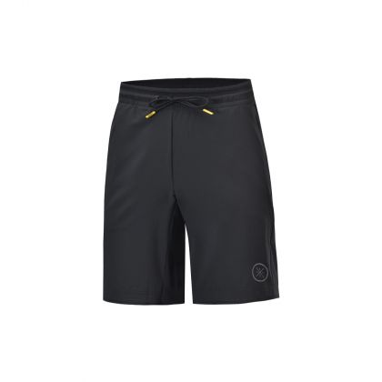 Wade Male Track Shorts, Standard Black