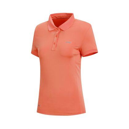 Essentials Female S/S Polo, Coral Red