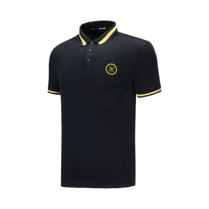 Wade Signature Male S/S Polo, Standard Black