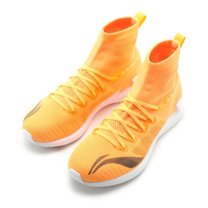 Male Light-Weight Running Shoes, Fluorescent Orange/Flashing Orange