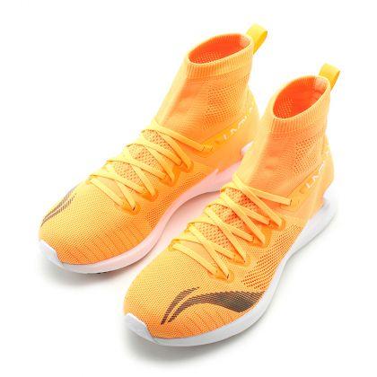 Female Light-Weight Running Shoes, Fluorescent Orange/Flashing Orange