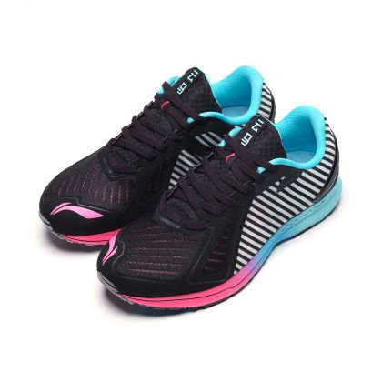 Female Light-Weight Running Shoes, Standard Black/Electric Blue
