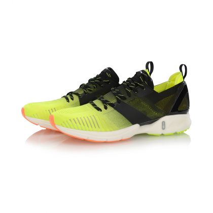 Male Light-weight Running Shoes, Flashing Bright Green/Standard Black
