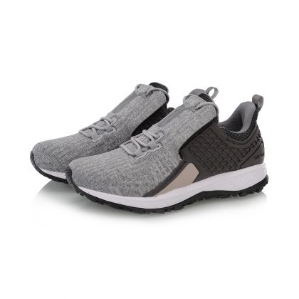 Female Cushion Running Shoes, Iron Gray/Coagulation Snow Grey