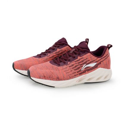 Female Cushion Running Shoes, Dark Red/Begonia Red
