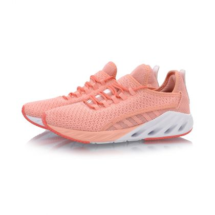 Female Cushion Running Shoes, Peach Bud Red/Bright Orange