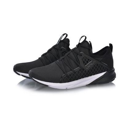 Female Cushion Running Shoes, Standard Black/Standard White