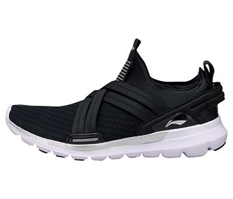 Moving Innovation Male Smart Moving Running Shoes, Standard Black/Standard White/Silver Gray