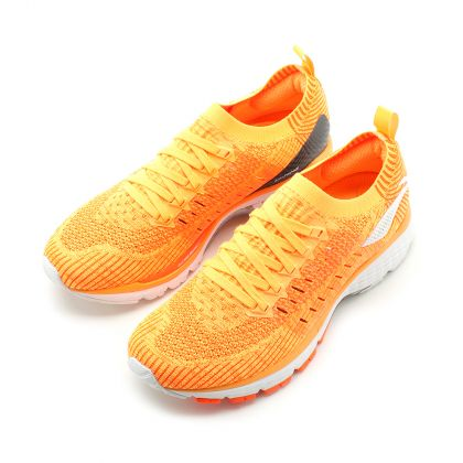 Male Stability Running Shoes, Fluorescent Orange/Flashing Orange