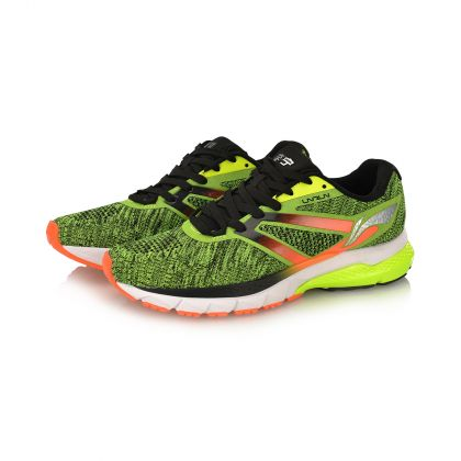 Male Stability Running Shoes, Flashing Bright Green/Standard Black