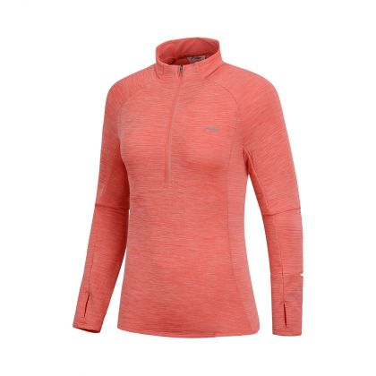 Jogger Female L/S top, Mix Bright Orange