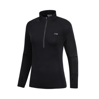 Jogger Female L/S top, Standard Black