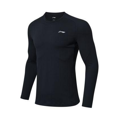 Gym Male L/S top, Standard Black