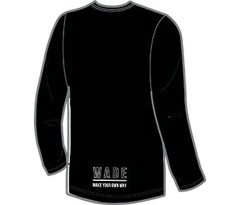 Wade Signature Male L/S tee, Standard Black