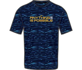 LN Basketball Male S/S Tee, Navy Blue